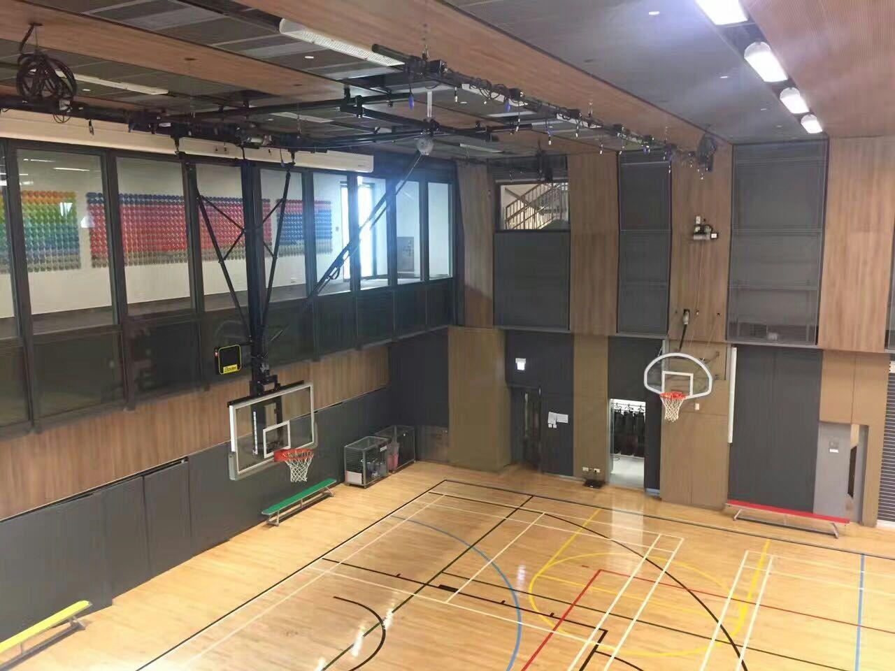 Gymnasium Ceiling Mounted Basketball Hoops